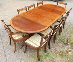 regency style mahogany dining room suite