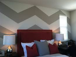 Model Home Interior Paint Colors by Chevron Painted Wall Lennar Model Model Home Ideas Pinterest