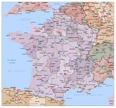 Detailed Map Of France by Political And Administrative Map Of France With Highways And Major