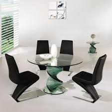 dining marvelous rectangular glass dining table and black