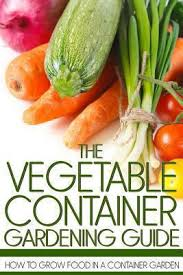 Vegetable Container Garden - the vegetable container gardening guide book by martin anderson