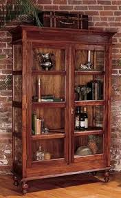 display cabinet with glass doors country reclaimed solid wood farmhouse glass display cabinet by cdi