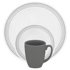 corelle 16 dinnerware set mystic grey
