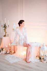 honeymoon sleepwear lace bridal robe f3 2 nightdress by apilat on zibbet