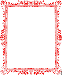 set of hand drawn borders design element for wedding cards in save