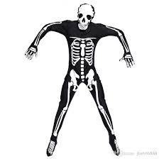 Skeleton Halloween Costumes Adults 2017 Halloween Costume Skeleton Glow Romper Long Sleeve
