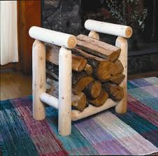 Rustic Contemporary Living Room Diy Homemade Indoor Firewood Rack For Rustic Modern Living Room