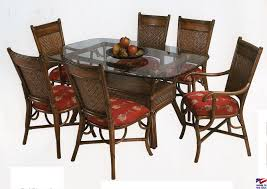 Chair Blue Wood Dining Chairs Winda  Furniture Rattan Table And - Wooden dining table with wicker chairs