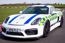 police mclaren porsche cayman gt4 kitted out for police duty by car magazine