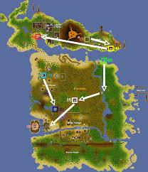 Oldschool Runescape World Map by Tai Bwo Wannai Trio Quick Guide Old Runescape Wiki