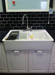 Ikea Sink With Non Ikea Faucet Thinking About Kitchen Sinks Little Green Notebook