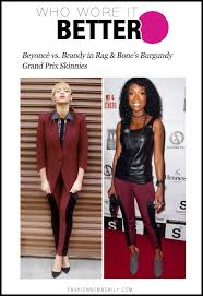 Beyonce Birthday Meme - who wore it better beyoncé vs brandy in rag bone s burgundy