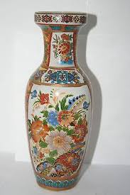 Antique Oriental Vases Large Chinese Red Cloisonne Enamel Vase 20 Inches Tall With Birds