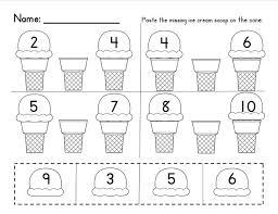 kindergarten missing number worksheets worksheets