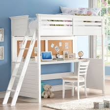 desk beds for sale lacey white twin loft bed with desk and cork board esa pinterest