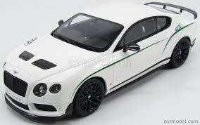 bentley white 2015 gt spirit gt121 scale 1 18 bentley continental gt3 r coupe 2015