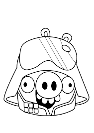 Angry Bird Pigs As Darth Vader Coloring Pages Bulk Color Darth Vader Coloring Pages