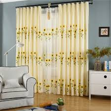 Sunflower Yellow Curtains by Popular Sunflower Curtain Buy Cheap Sunflower Curtain Lots From