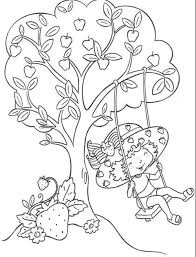 strawberry shortcake coloring page friendship cartoon coloring