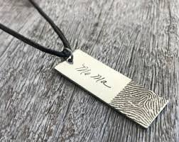 custom handwriting necklace fingerprint jewelry etsy