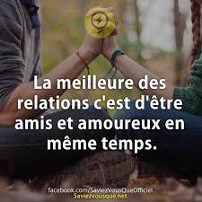 Meme Temps - inspirational quote la meilleure des relations cest d礫tre amis et