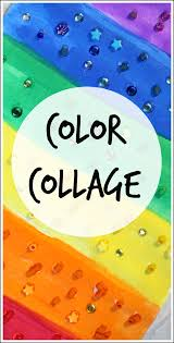 color collage art project for kids