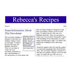 tips for creating a recipe newsletter or cooking pamphlet with
