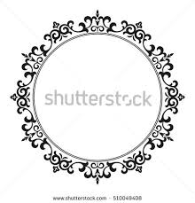 Decorative Line Clip Art Vintage Frame Sketch Vector Isolated On Stock Vector 119490190
