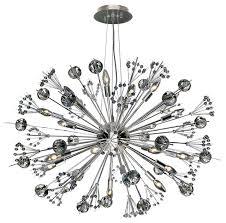Crystal And Chrome Chandelier Starburst 20 Light Chrome And Crystal Sputnik Chandelier
