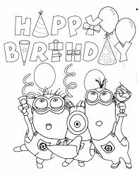 happy birthday coloring pages minions coloringstar