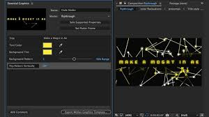 creating motion graphics templates in adobe after effects