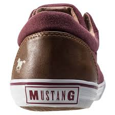 mustang lace up boots blue mustang combi low top mens trainers
