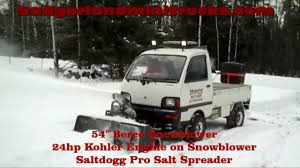 mitsubishi minicab engine mitsubishi minicab 4x4 mini truck snowblower project youtube