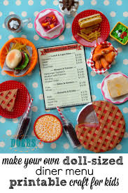 diy doll sized menu instructions with printable great quick