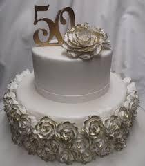 50th anniversary cake ideas wedding cakes 50th anniversary cake gold roses