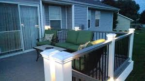 trex post cap lights trex lighting transcend deck in gravel path and gravel path railing