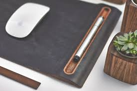 leather mouse pad u0026 wood tray mouse mat with cork base features
