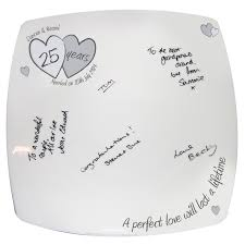 25th anniversary plates silver wedding gift ideas silver wedding anniversary