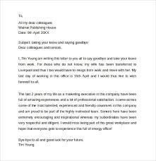 farewell letter to coworkers letters font