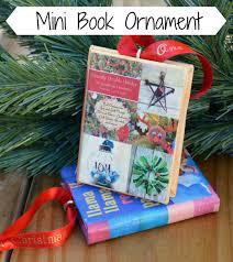 mini book ornament one artsy mama