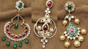pachi earrings pachi work earrings jewellery designs