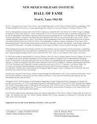 yates alumni 2015 mr fred g yates 1963 hs new mexico institute