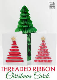threaded ribbon christmas cards mum in the madhouse