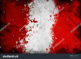 Blood Stained Flag Flag Peru Image Overlaying Grungy Texture Stock Illustration