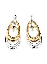 gold plated earrings for sensitive ears neoglory jewelry gold plated silver color two tone teardrop drop