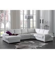 canapé d angle imitation cuir canapé d angle avec méridienne gauche en simili cuir blanc