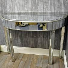 Venetian Console Table Venetian Style Glass Half Moon Console Table Mirror Mirror On
