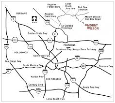 210 Freeway Map Mount Wilson Observatory Visiting