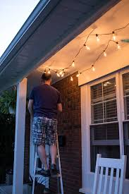 Command Outdoor Light Clips Summer Porch Makeover