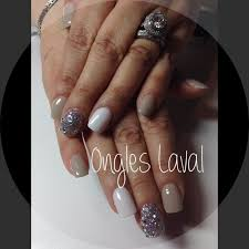 multi color lava l http www facebook com onglelaval taupe white and silver nails